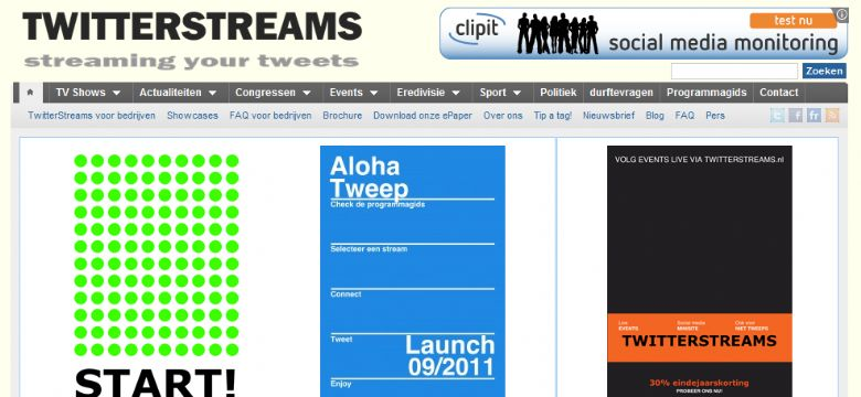 TwitterStreams is schakel tussen evenement en social media