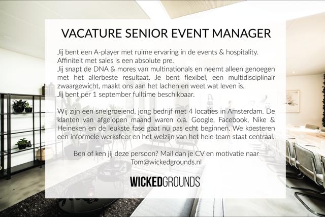 Vacatures: Senior Event Manager